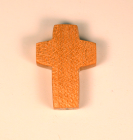 """Merry Crosses 1 1/2"""" Merry Hand Crafted Maple Barrel Pocket Cross"""