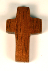 """Merry Crosses 1 1/2"""" Merry Hand Crafted Butter Nut Barrel Pocket Cross"""