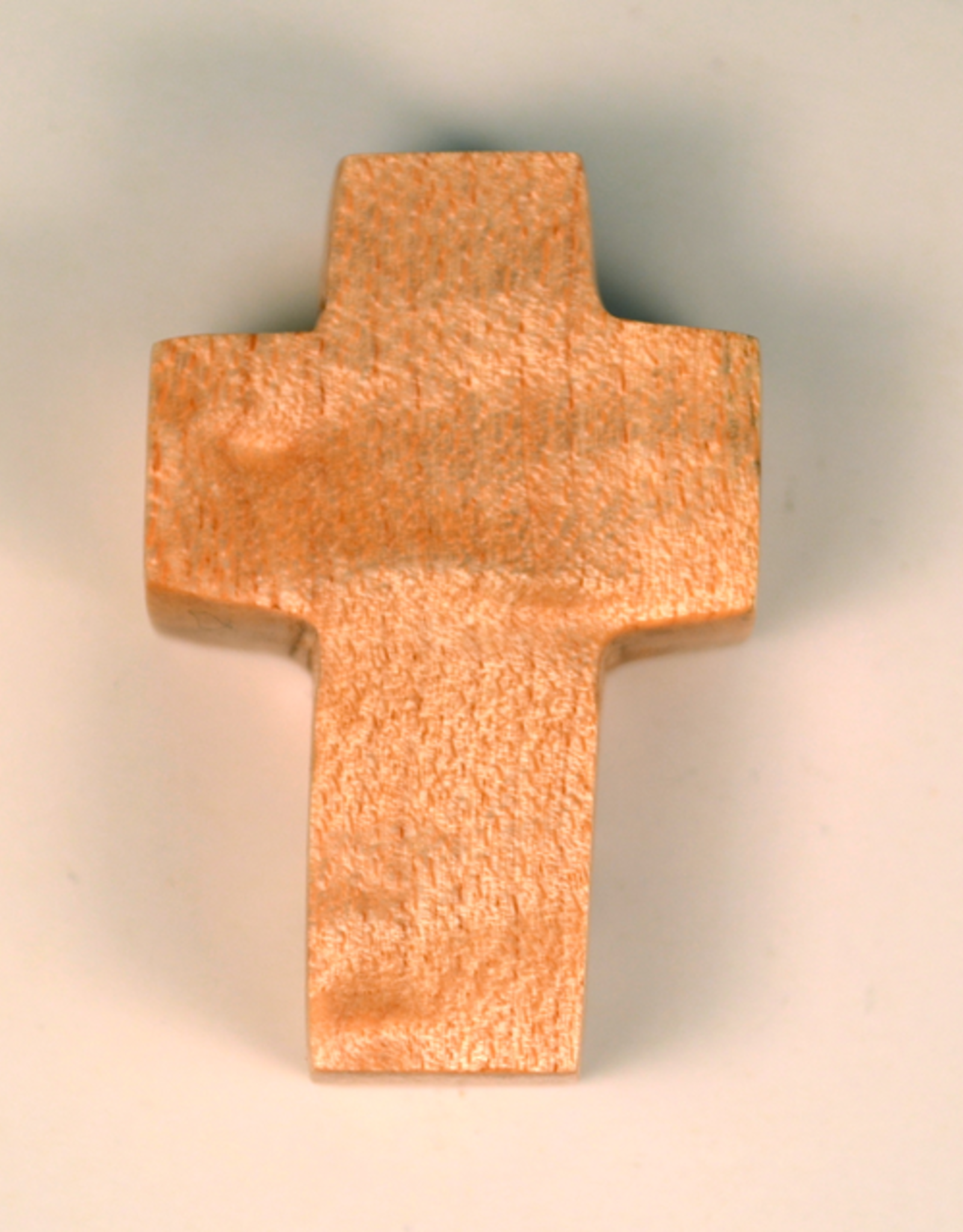 """Merry Crosses 1 1/2"""" Merry Hand Crafted Flat Maple Pocket Cross"""