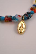 """Credo Catholic 7 1/2"""" Credo Catholic Stretch Chord Bracelet with Miraculous Medal"""