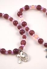 """Credo Catholic 7 1/2"""" Credo Catholic Stretch Chord Bracelet with Crucifix and Miraculous Medal"""