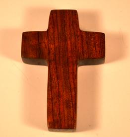 "Merry Crosses 3"" Merry Hand Crafted Bubinga Desk Cross"