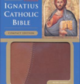 Ignatius Press Ignatius Compact Bible (RSV) Brown and Tan leather