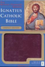 Ignatius Press Ignatius Compact Bible (RSV)-Burgundy Leather w/zip