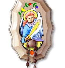 Illuminated Ink St. Michael Wooden Rosary Holder Kit