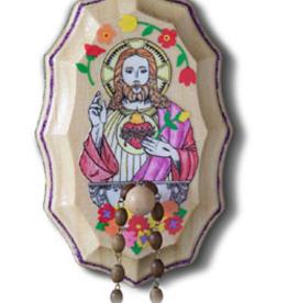 Illuminated Ink Sacred Heart of Jesus Wooden Rosary Holder Kit