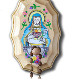 Illuminated Ink Immaculate Heart of Mary Wooden Rosary Holder Kit