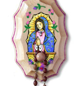 Illuminated Ink Our Lady of Guadalupe Wooden Rosary Holder Kit