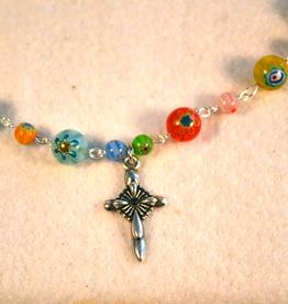 """Credo Catholic 21"""" Credo Catholic Hand Crafted Link Cross Necklace"""