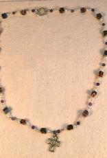 """Credo Catholic 24"""" Credo Catholic  Hand Crafted Link Four Way Medal Necklace"""