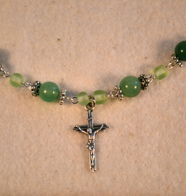 "Credo Catholic 23"" Credo Catholic Hand Crafted Link Crucifix Necklace"