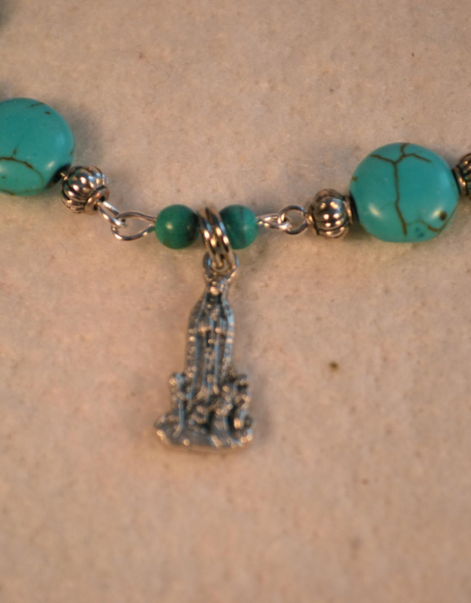 """Credo Catholic 8"""" Credo Catholic Hand Crafted Link Blessed Mother Single Decade Roasry  Bracelet"""