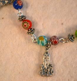 """Credo Catholic 8"""" Credo Catholic Hand Crafted Link Blessed Mother Bracelet"""