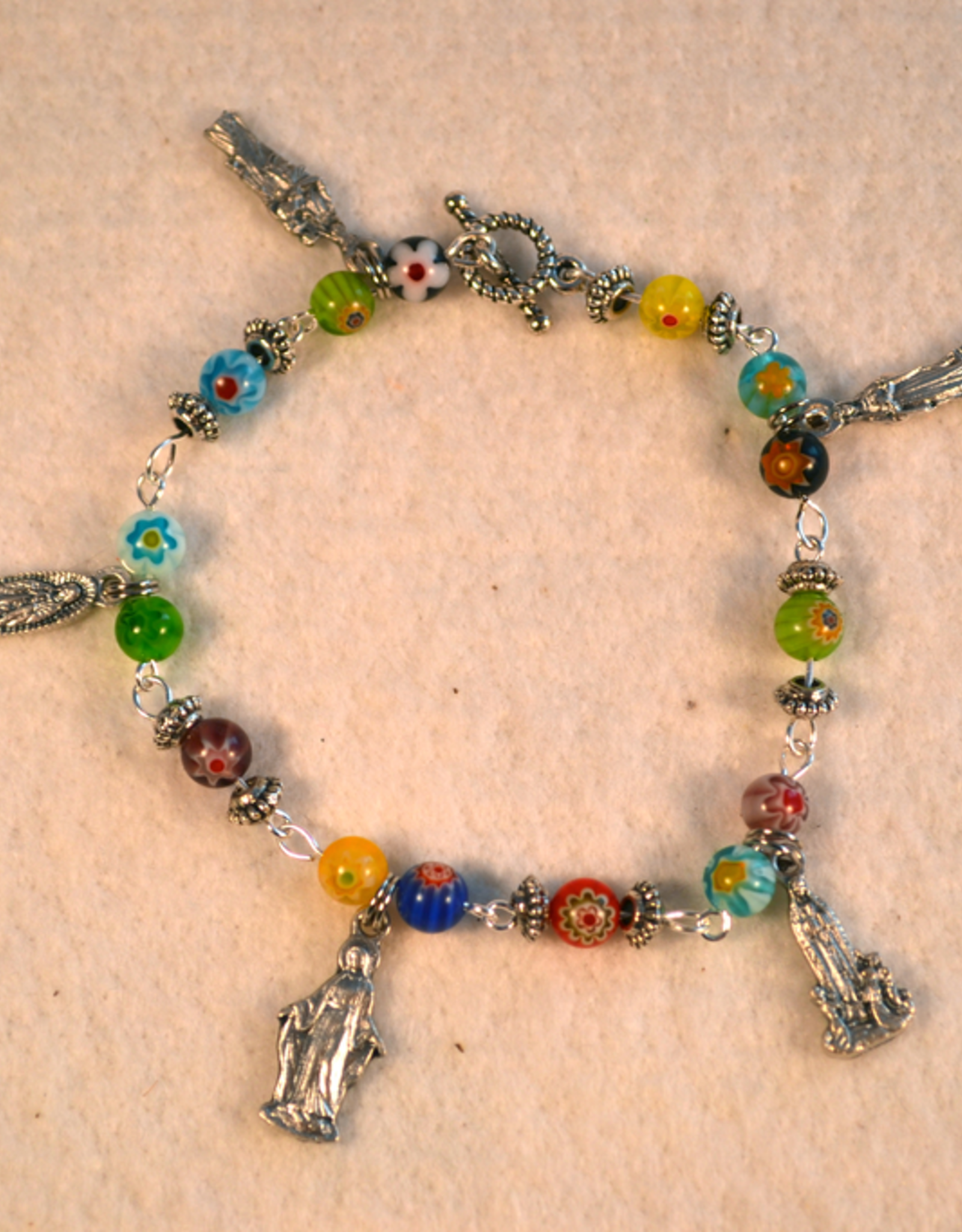 "Credo Catholic 8"" Credo Catholic Hand Crafted Link Blessed Mother Bracelet"