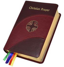 Catholic Book Publishing Christian Prayer (Divine Office/Liturgy of the Hours), Burgundy Dura-Lux Leather