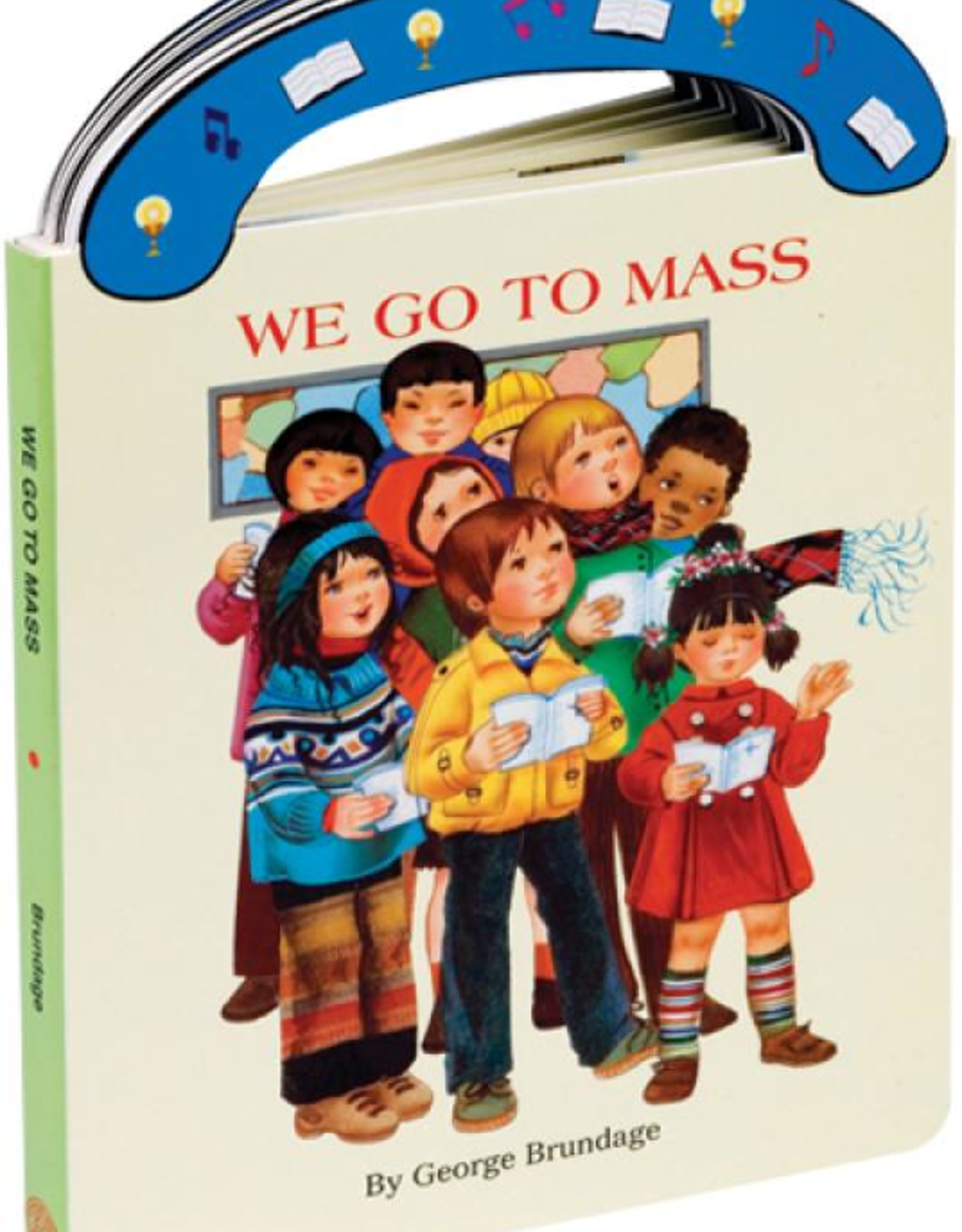 """Catholic Book Publishing We Go To Mass (St. Jospeh """"Carry-Me-Along"""" Board Book), by George Brundage"""