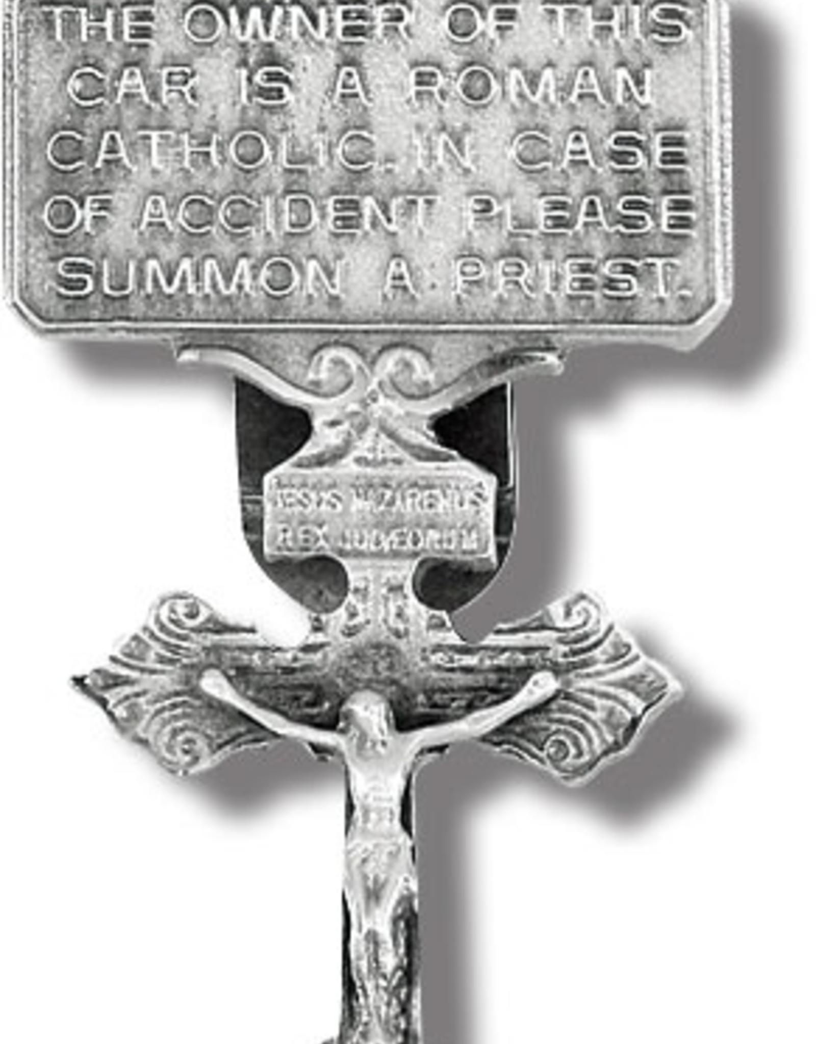 WJ Hirten Auto Visor Clip - Crucifix