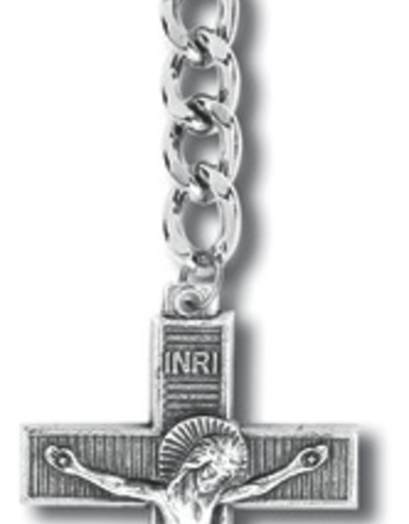 WJ Hirten Key Ring-Antique Silver Crucifix