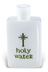 WJ Hirten 4 oz Gold Stamped Holy Water Bottle