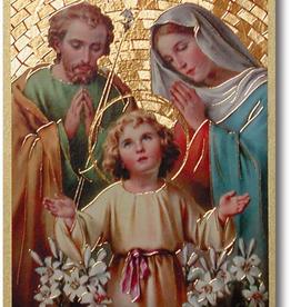 "WJ Hirten Holy Family Gold Foil Mosaic Plaque 4x6"" (icon)"