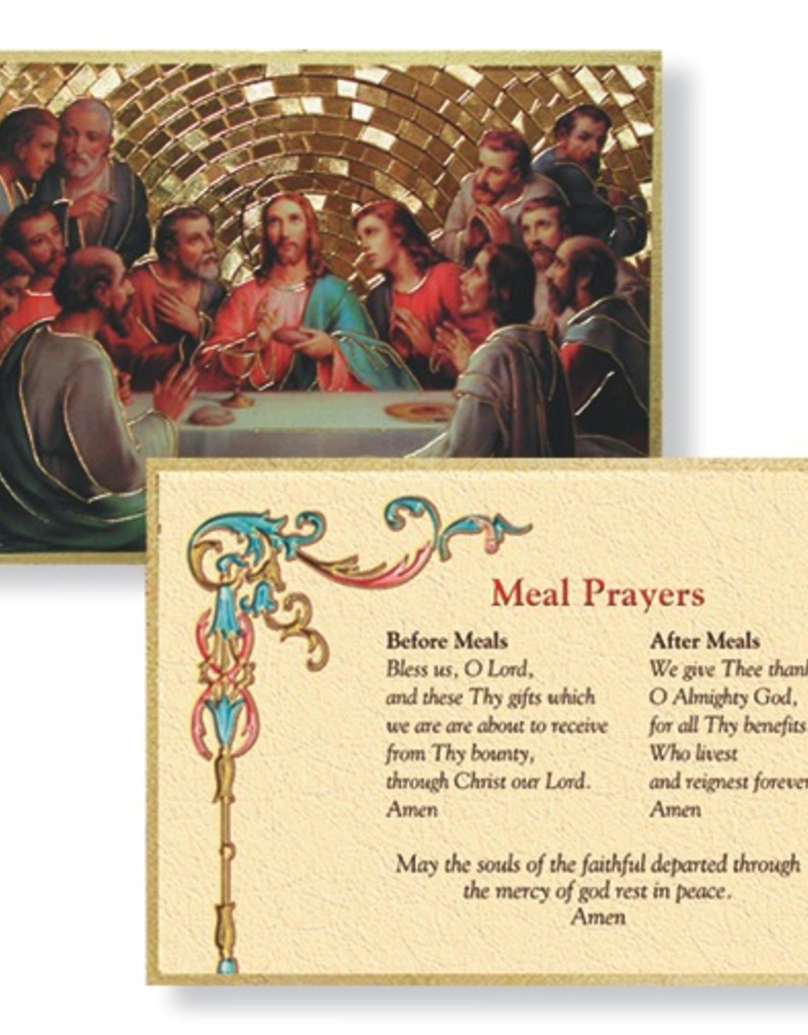 "WJ Hirten The Last Supper Gold Foil Mosaic Plaque 4x6"" (icon)"