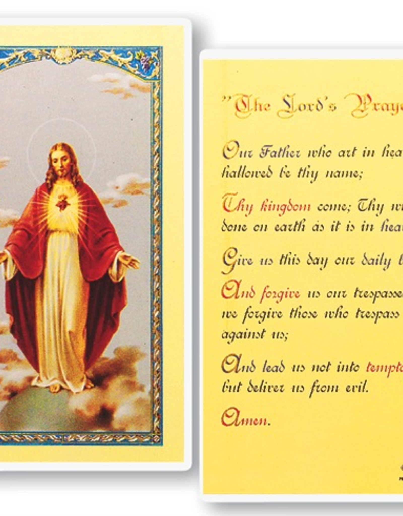 WJ Hirten The Lord's Prayer Holy Cards (25/pk)