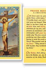 WJ Hirten Prayer Before a Crucifix Holy cards (25/pk)