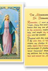 WJ Hirten The Memorare of St. Bernard( Our Lady of Grace) Holy Cards (25/pk)