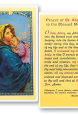 WJ Hirten Prayer of St. Aloysius to the Blessed Mother ( Madonna of the Streets) Holy Cards (25/pk)