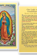 WJ Hirten Our Lady of Guadalupe Mother of the Americas Holy Cards (25/pk)