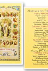 WJ Hirten Mysteries of the Holy Rosary Holy Cards (25/pk)