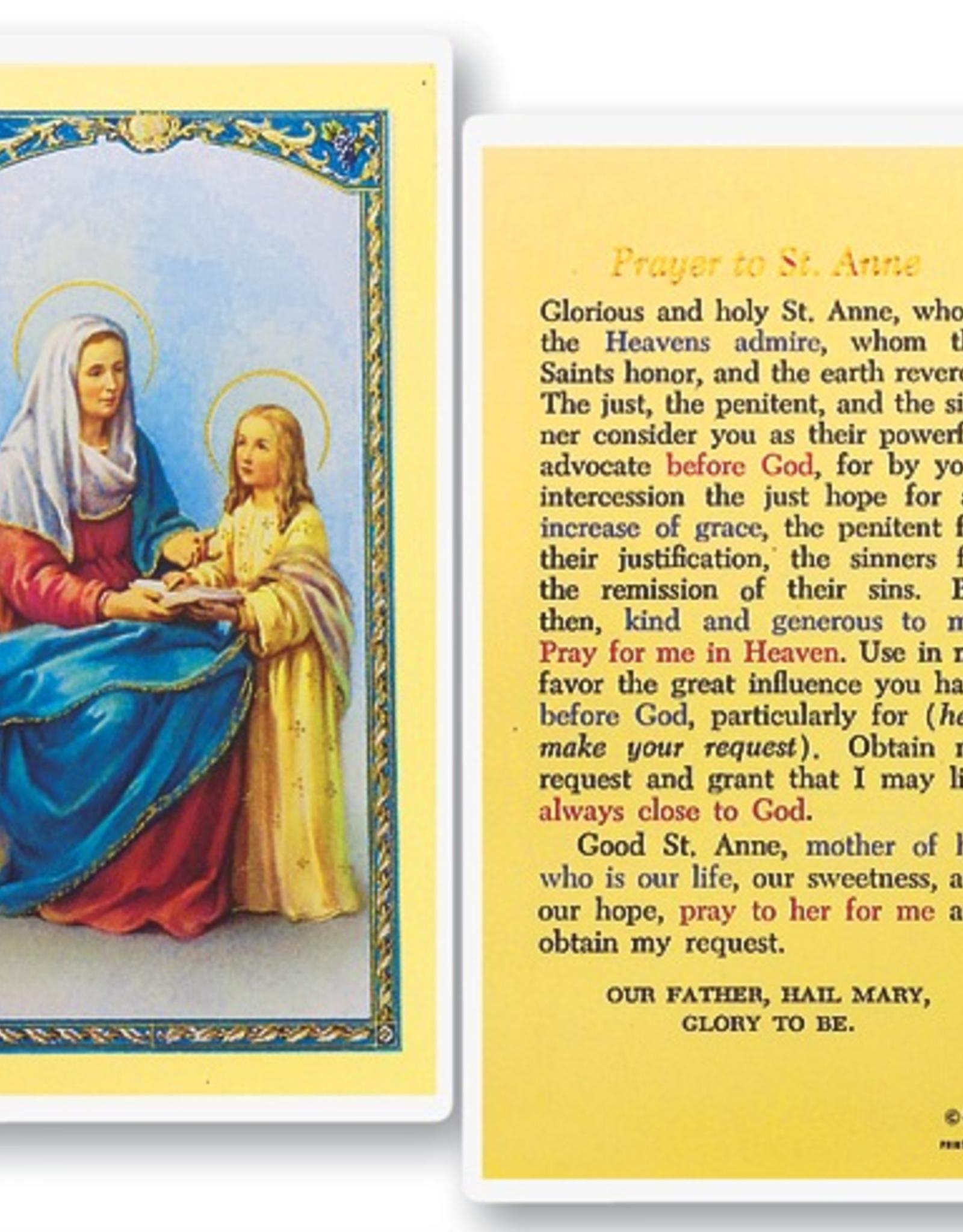 WJ Hirten St. Anne Holy Cards (25/pk)