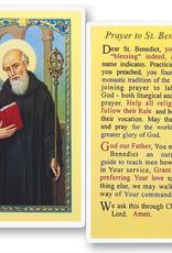 WJ Hirten St. Benedict Holy Cards (25/pk)
