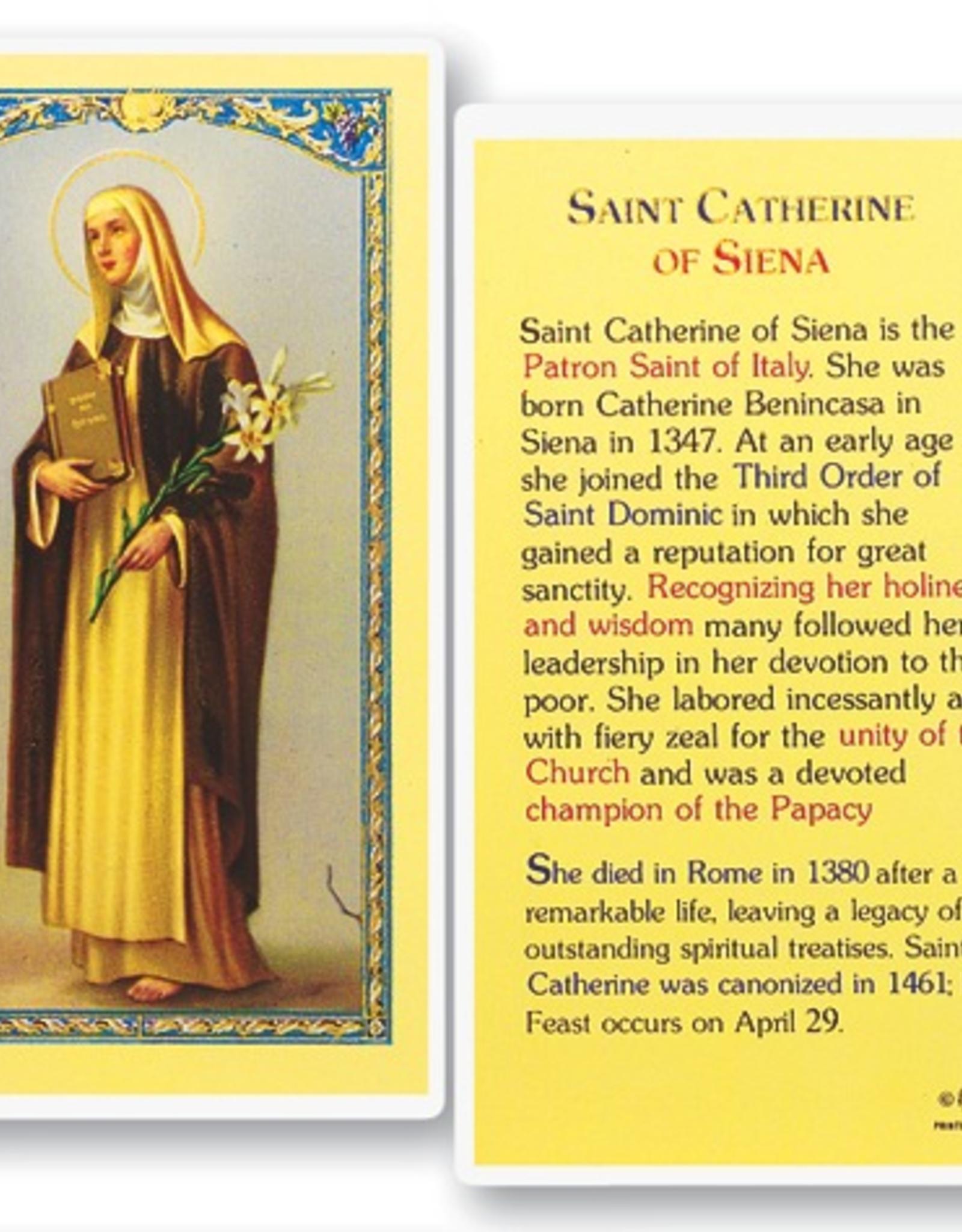 WJ Hirten St. Catherine of Siena Holy Cards (25/pk)