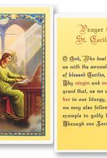 WJ Hirten St. Cecilia Holy Cards (25/pk)