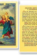 WJ Hirten St. Christopher - Prayer Before A Journey Holy Cards (25/pk)