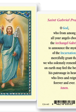 WJ Hirten St. Gabriel the Archangel Holy Cards (25/pk)