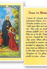 WJ Hirten St. Gerard (Prayer for Motherhood) Holy Cards (25/pk)