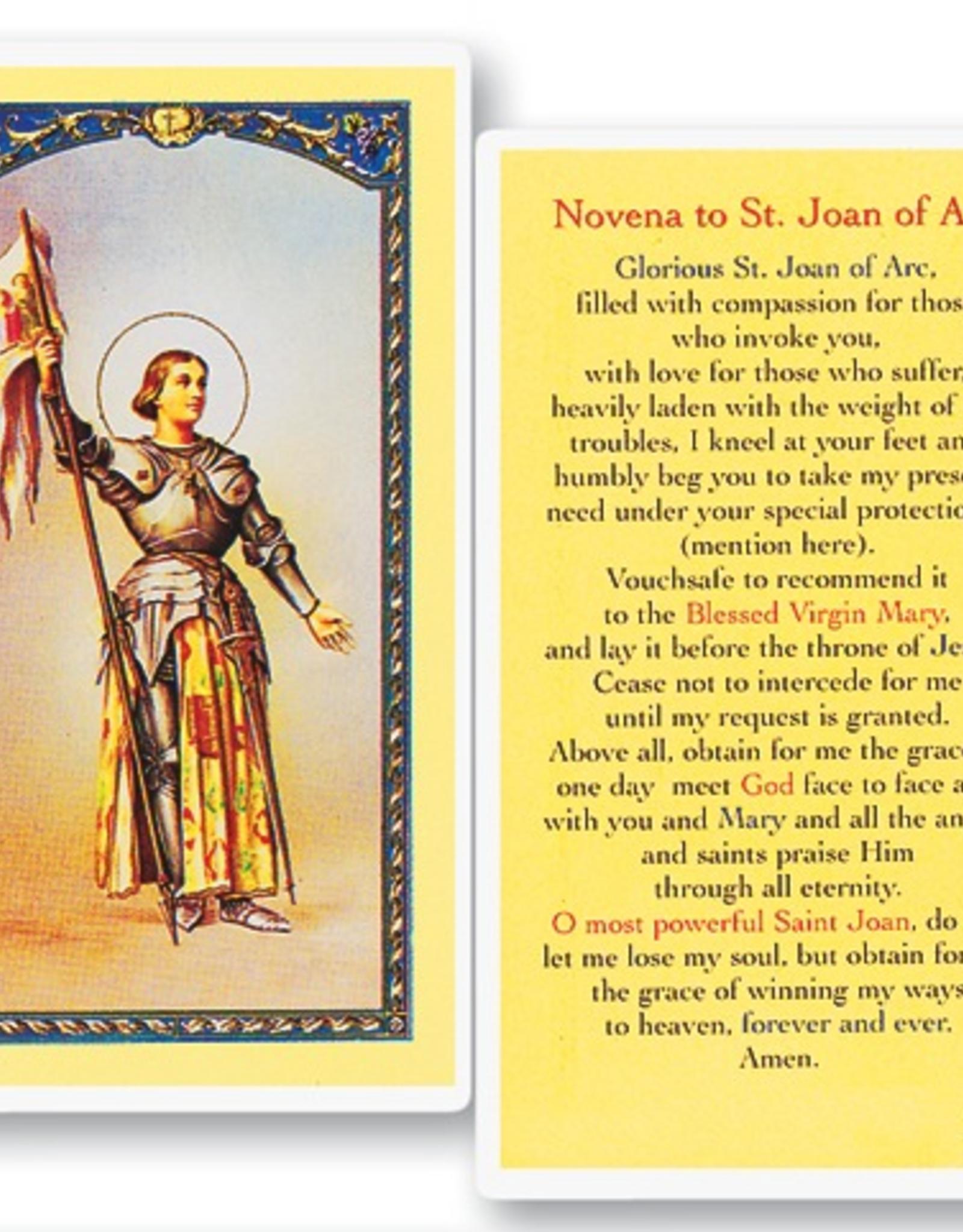 WJ Hirten St. Joan of Arc Holy Cards (25/ pk)