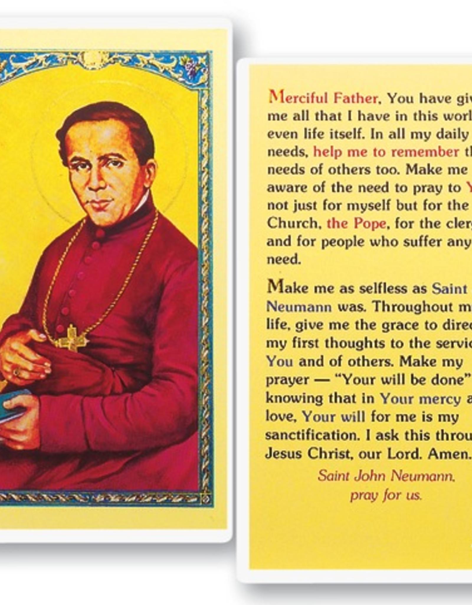 WJ Hirten St. John Neuman Holy Cards (25/pk)