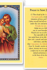 WJ Hirten St. Joseph (Prayer to St Joseph) Holy Cards (25/pk)