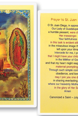 WJ Hirten St. Juan Diego with Our Lady of Guadalupe Holy Cards (25/pk)