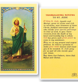 WJ Hirten St. Jude (Thanksgiving Novena) Holy Cards (25/pk)