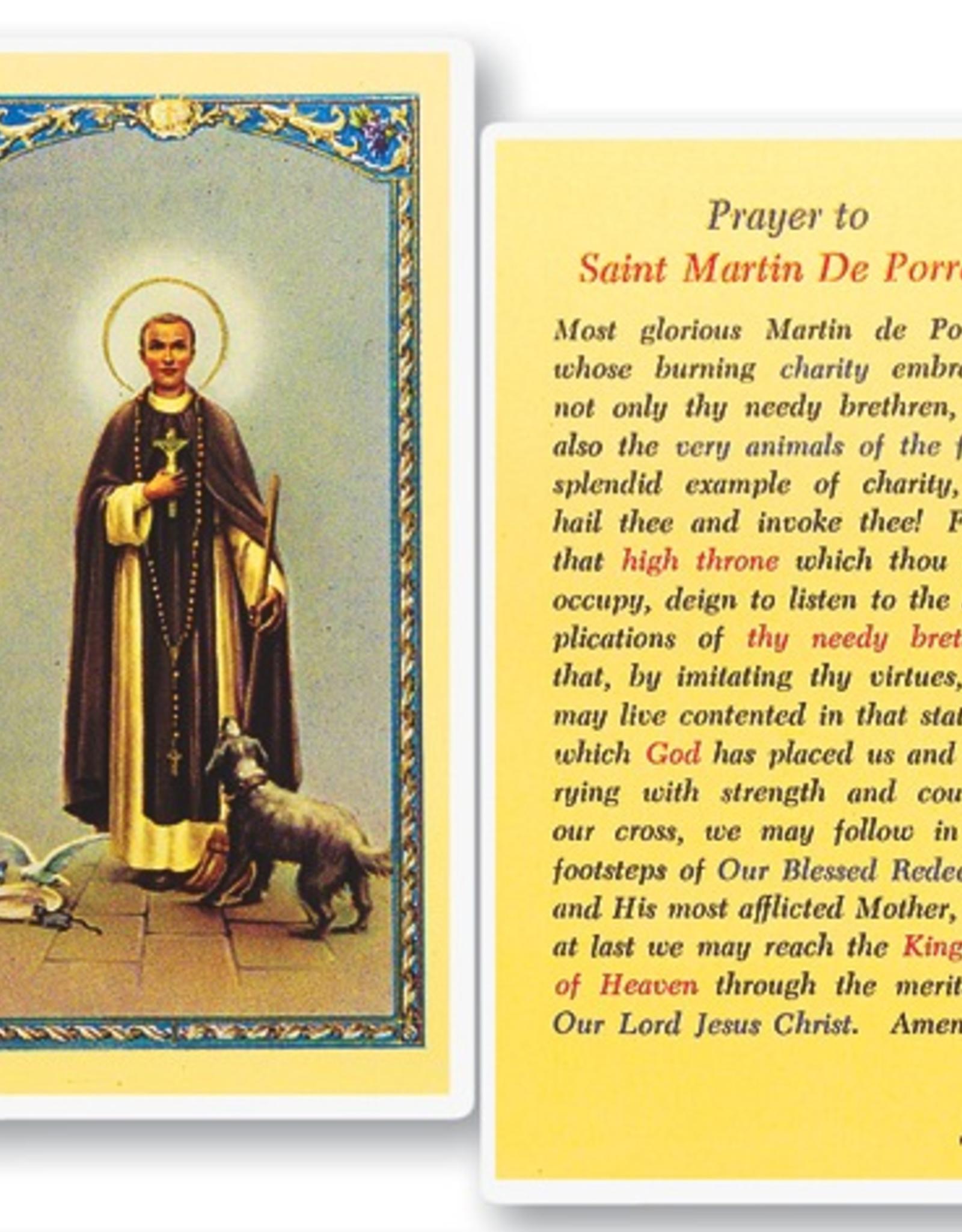 WJ Hirten St. Martin De Porres Holy Cards (25/pk)
