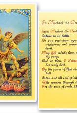 WJ Hirten St. Michael the Archangel Holy Cards (25/pk)