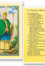 WJ Hirten St. Patrick (Breastplate) Holy Cards (25/pk)