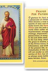 WJ Hirten St. Paul (Prayer for Patience) Holy Cards (25/pk)