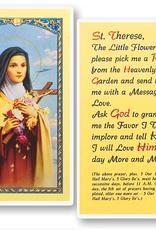 WJ Hirten St. Therese (The Little Flower) Holy Cards (25/pk)