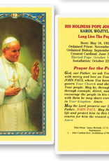 WJ Hirten Pope John Paul II Holy Cards (25/pk)