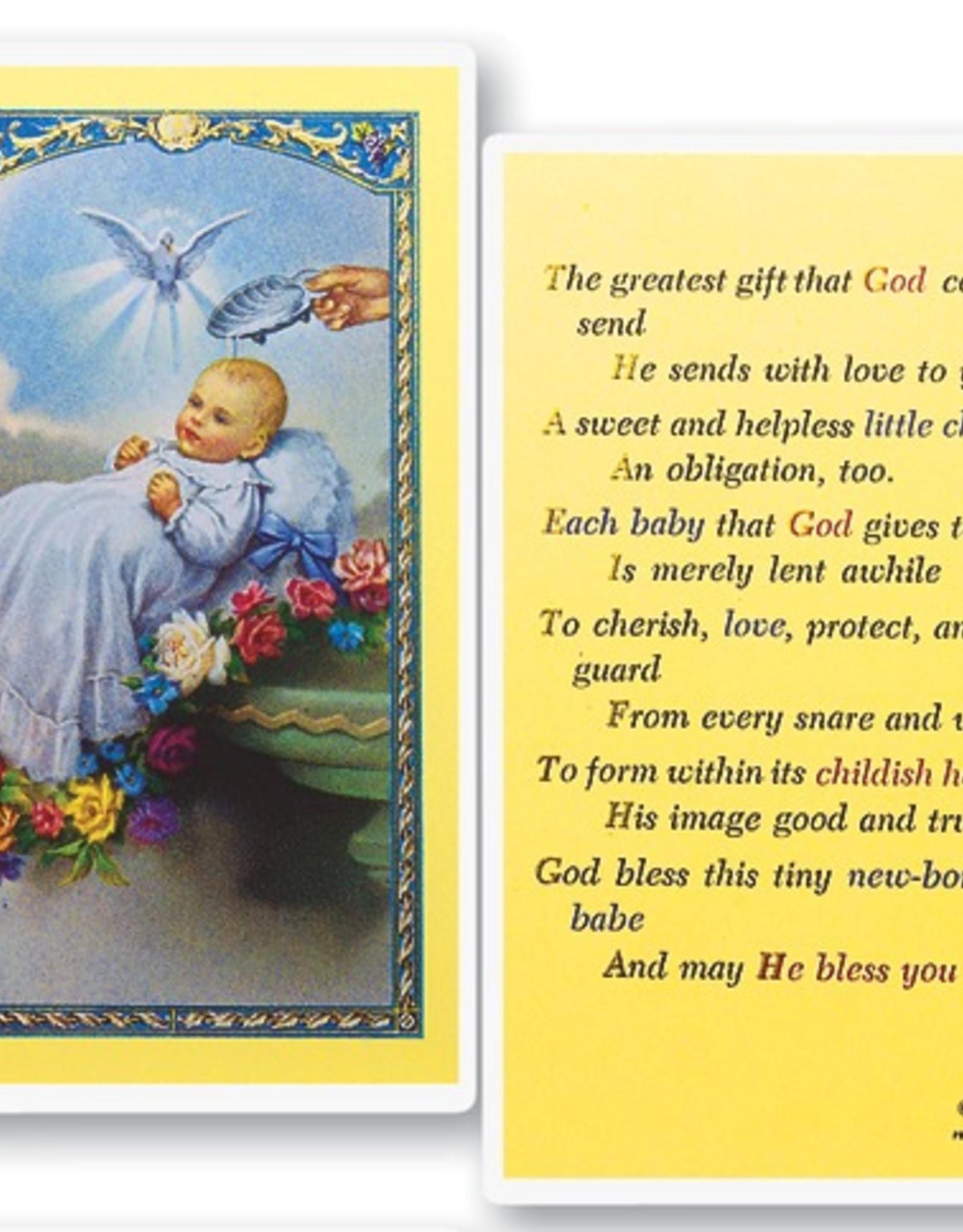 WJ Hirten Baby's Baptism - The Greatest Gift Holy Cards (25/pk)